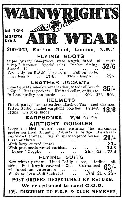Wainwright's Flying Clothing