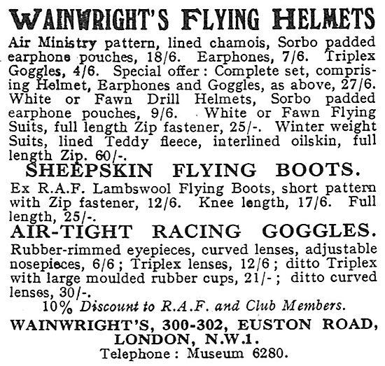 Wainwright's Flying Helmets & Boots