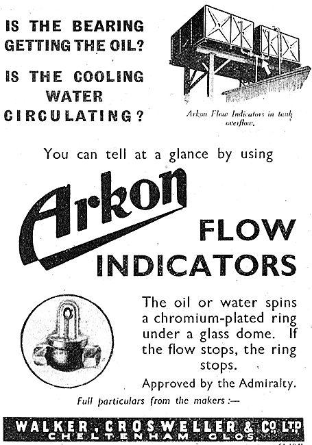 Walker Crossweller Arkon Flow Indicators 1942 Advert