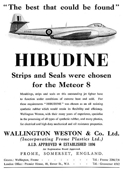 Wallington Weston HIBUDINE Synthetic Rubber Strips & Seals
