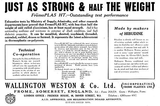 Wallington Weston FromoPLAS HT Synthetic Rubber Strips & Seals