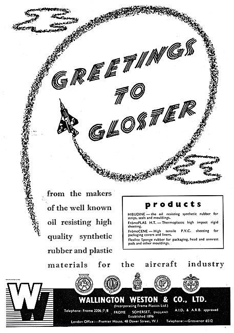 Wallington Weston Synthetic Rubber & Plastics For Aircraft