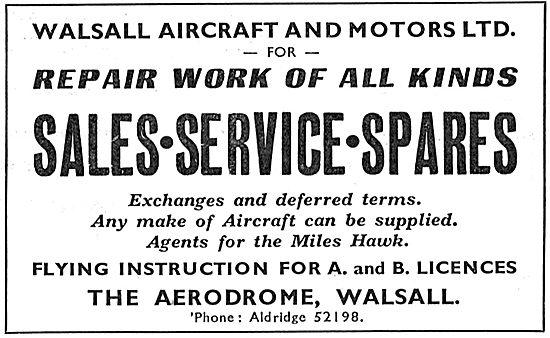 Walsall Aircraft & Motors Ltd - Walsall Aerodrome