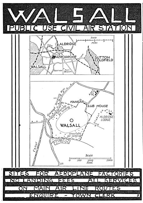 Walsall Aerodrome 1934