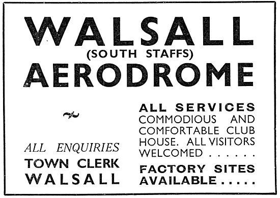 Walsall Aerodrome 1937