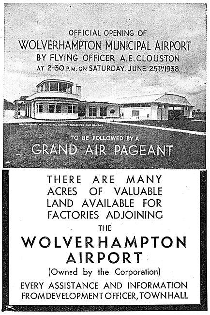 Wolverhampton Municipal Aerorome - Opens June 25th 1938