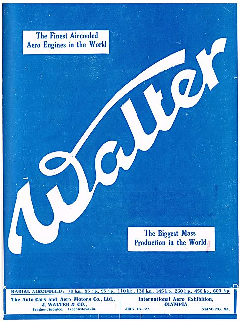 Walter - The Finest Aircooled Aero Engines In The World