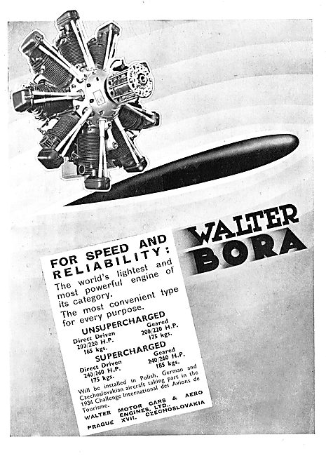 Walter Bora Radial Aero Engines - Supercharged Versions Available