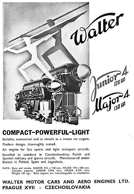 Walter Junior 4 Aero Engine. Walter Major 4 Aero Engine.