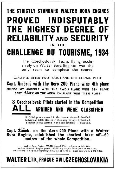 Walter Bora Aircraft Engines