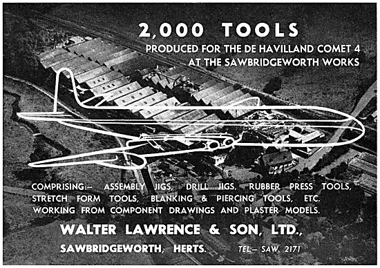Walter Lawrence. Jigs & Tools For The Aircraft Industry