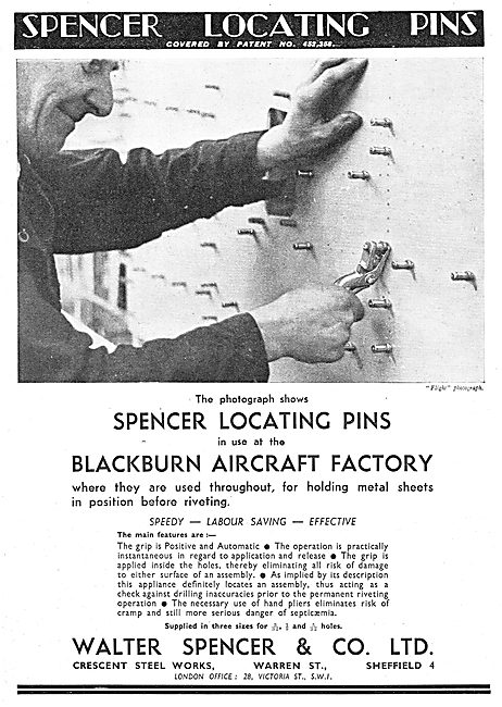 Walter Spencer..Crescent Steel Works Spencer Locating Pins