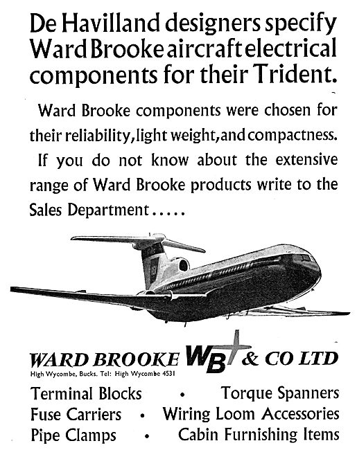 Ward Brooke Aircraft Electrical Components