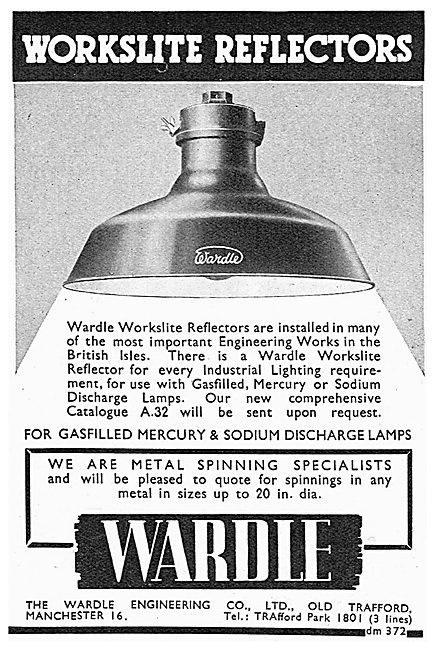 Wardle Worklite Reflector Lighting - Metal Spinning