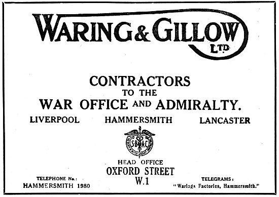 Waring & Gillow Aviation Dept.