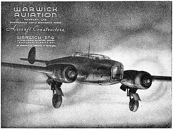 Warwick Aviation. Aeronautical Engineers & Constructors