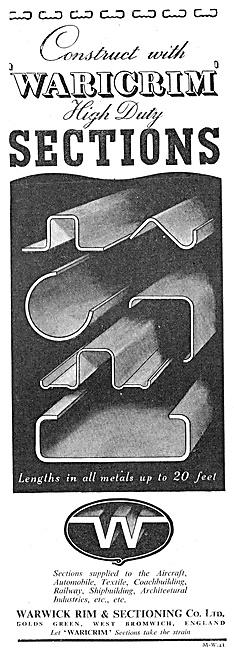 Warwick Rim Waricrim Rolled Sections