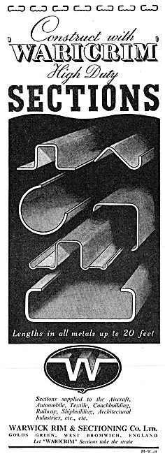 Warwick Rim Sheet Metal Work - High Duty Sections. Waricrim