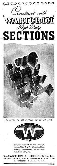 Warwick Rim Sheet Metal Work - Waricrim High Duty Sections 1943