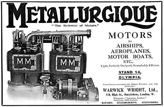 Metallurgique Aero Engines - Concessionaires Warwick Wright