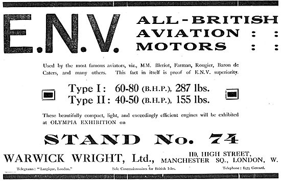 Warwick Wright ENV All-British Aviation Motors