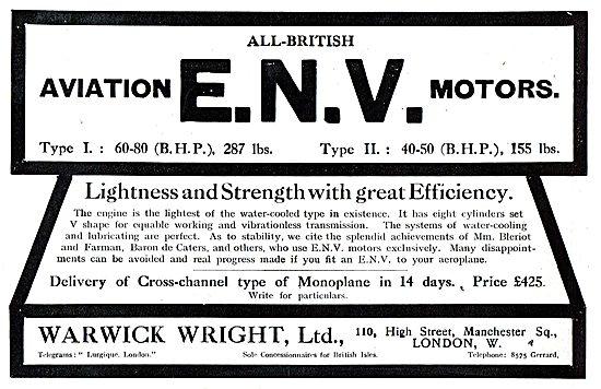 All British ENV Aviation Motors