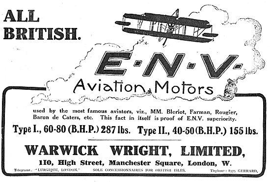 ENV Aviation Motors Type 1 60-80  BHP Type II 40-50 BHP