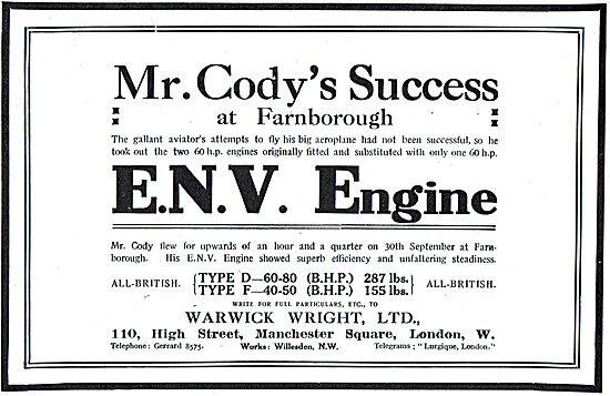 Cody Achieves Success At Farnborough With An ENV Engine