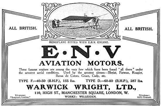 Monoplane Fitted With An ENV Engine