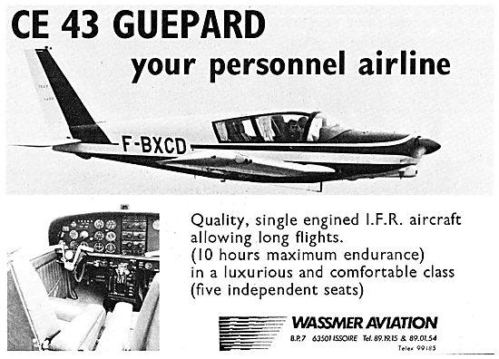 Wassmer CE 43 Guepard. F-BXCD