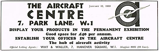 Space Available At The Aircraft Centre