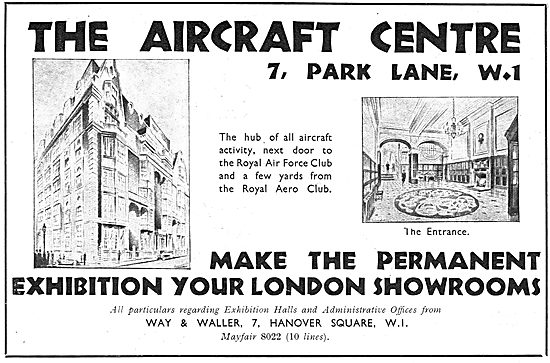 Way & Waller Aircraft Centre Park Lane - Aviation Showcase