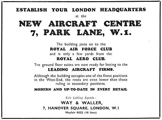 Way & Waller Aircraft Centre Park Lane - Aviation Showcase