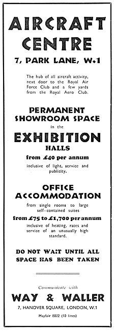Way & Waller Aircraft Centre Park Lane. 1932