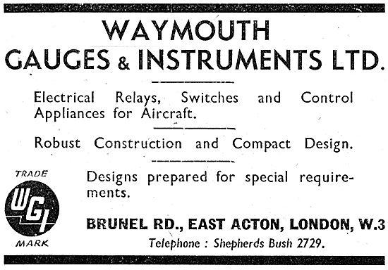 Waymouth Gauges 1942 Advert