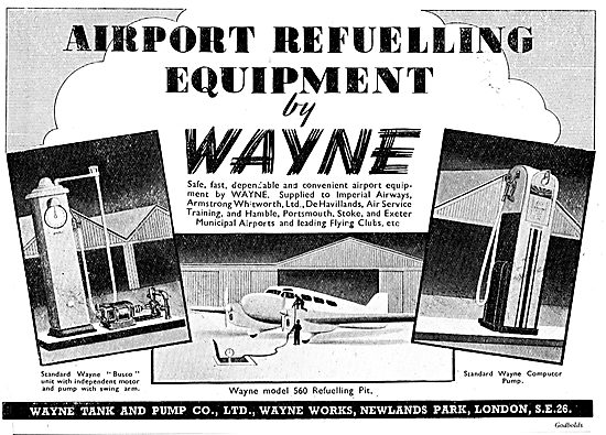 Wayne Tank & Pump Co. Wayne Airport Refuelling Equipment