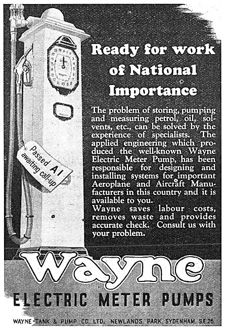 Wayne Electric Meter Pumps 1941