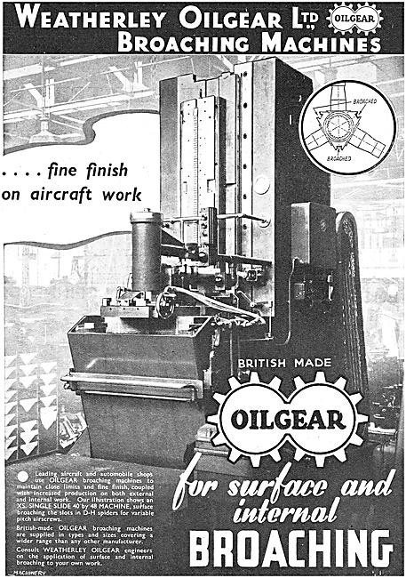 Weatherly Oilgear. Broaching Machines