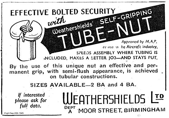 Weathershields Self Gripping Tube Nuts