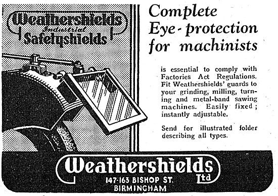 Weathershields Safety Shields For Machinists 1942