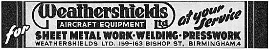 Weathershields Sheet Metal Work, Welding & Presswork