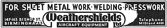 Weathershields Aircraft Sheetmetal Work