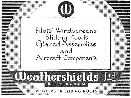 Weathershields Glazed Assemblies & Aircraft Components