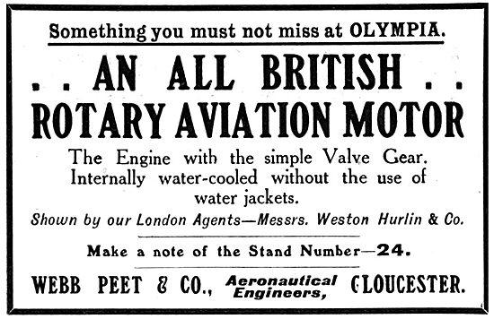 Webb Peet & Co Rotary Aviation Motors