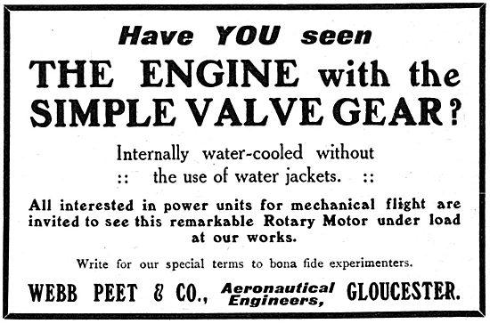 Webb Peet & Co. Gloucester. Webb Peet  Aero Engine