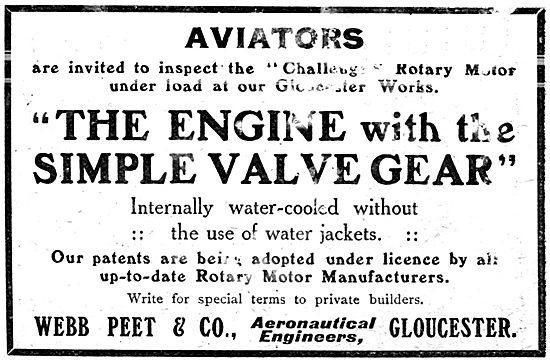 Webb Peet Aero Engine. Webb Peet & Co Aeronautical Engineers