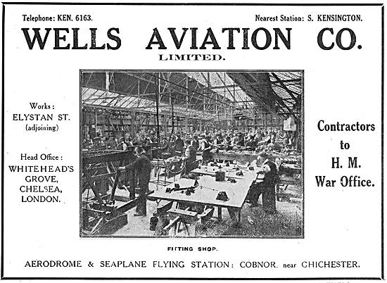 Wells Aviation Fitting Shop 1916