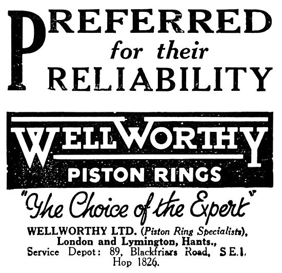 Wellworthy Piston Rings
