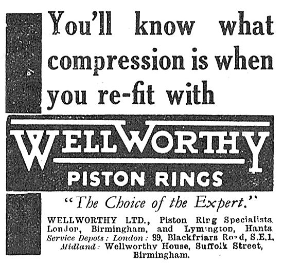 Wellworthy Aero Engine Piston Rings