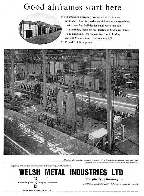 Welsh Metal Industries. GKN. Caerphilly Works. A.I.D. A.R.B.